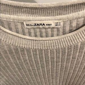 Zara Dresses - Zara grey knit sweater dress